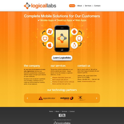 Create the next website design for Logical Labs