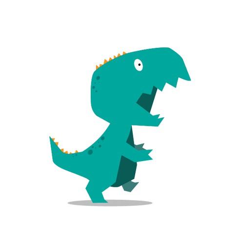 T-Rex cute Mascot