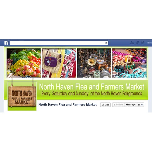 Facebook Cover Photo and Logo needed for new flea market