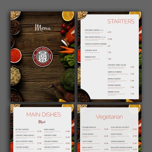 Menu design for restaurant