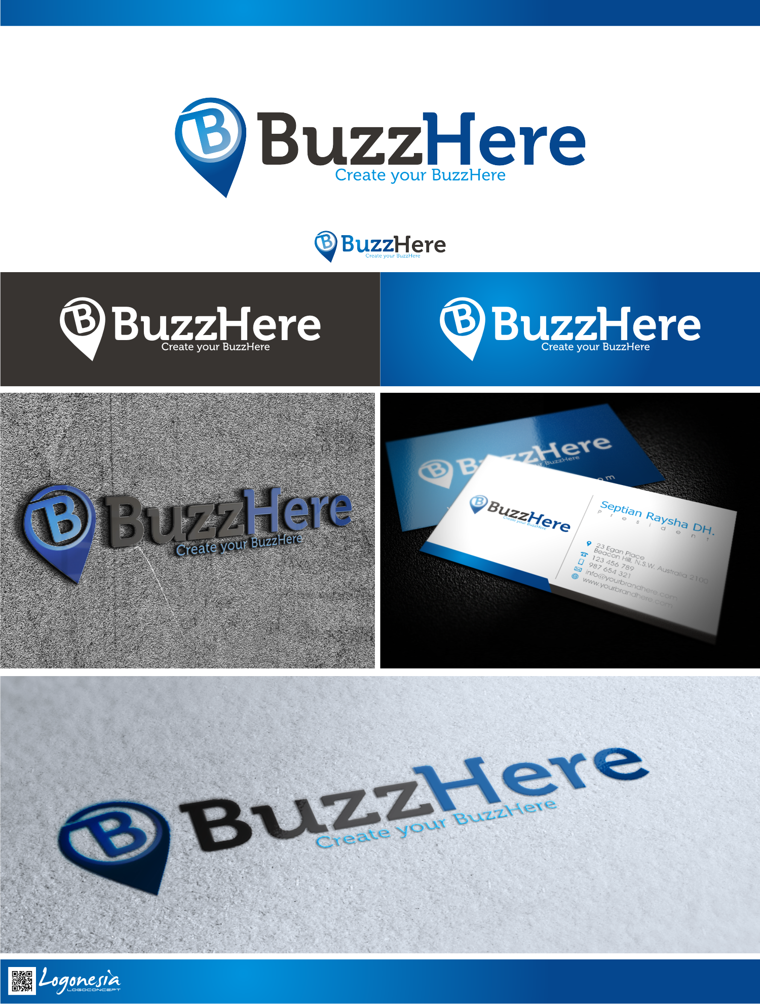 BuzzHere needs a new logo and business card