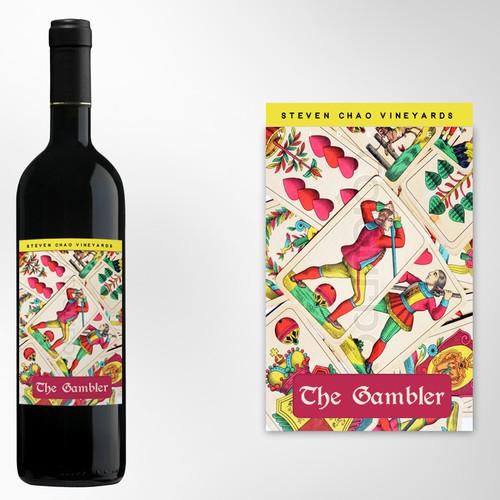 Design a wine bottle label
