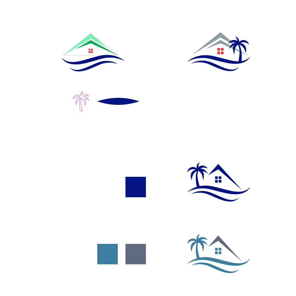 """Design a """"beachy/ocean-based"""" financial logo that has a timeless quality (Formiller Mortgage Group)"""