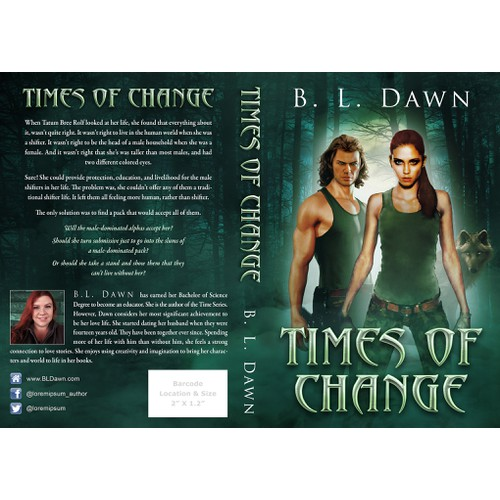 "Book cover for the paranormal romance novel ""Times of Change"""