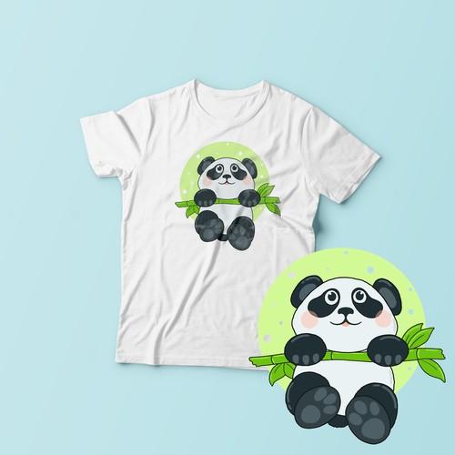 Design of a cute panda)