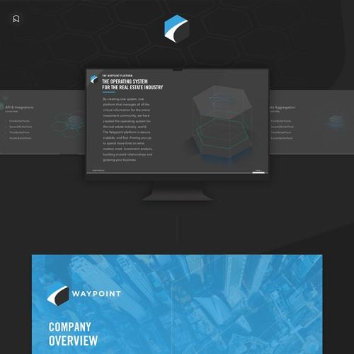 Slide design & animation for a Startup