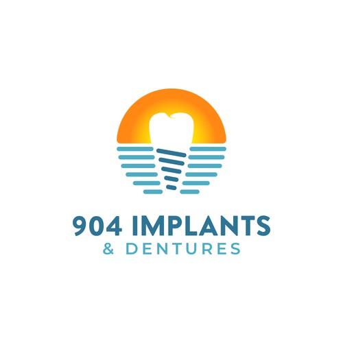 Logo design for 904 Implants and Dentures