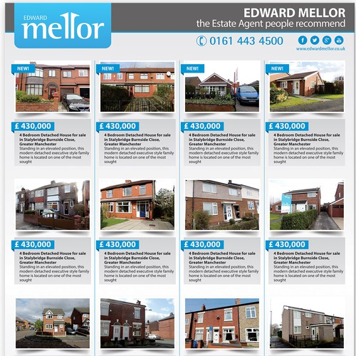 State of the Art newspaper advert design for Estate Agent