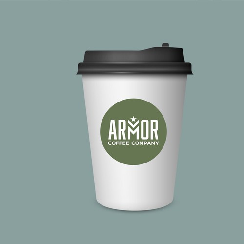 Bold logo for military cafe