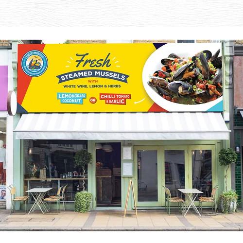 Eye catching restaurant banner design