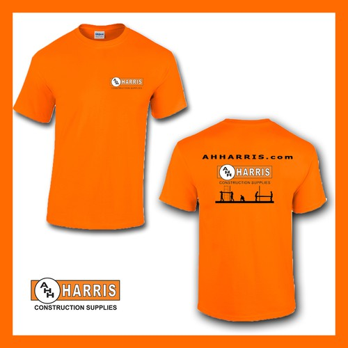shirt backside for constructions supplies company