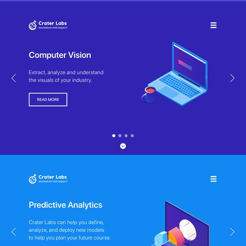 Crater Labs Web Design