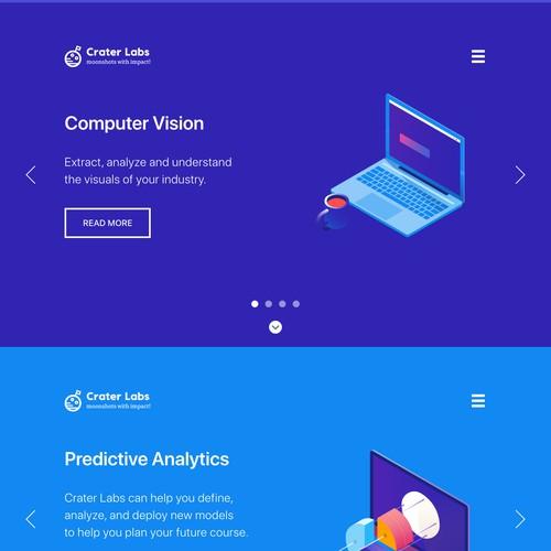 Crater Labs Web Design