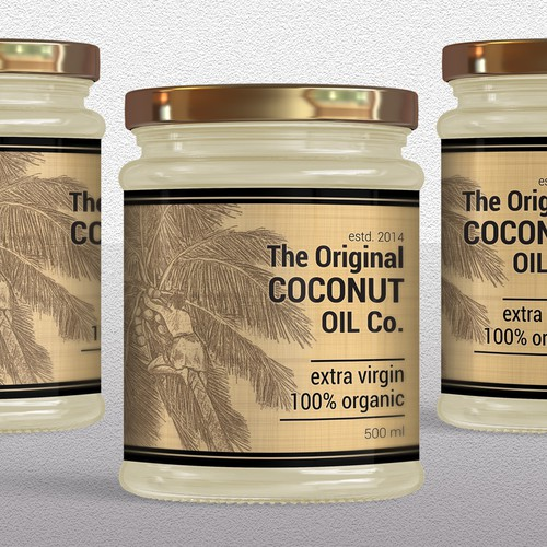Label design for Coconut Oil