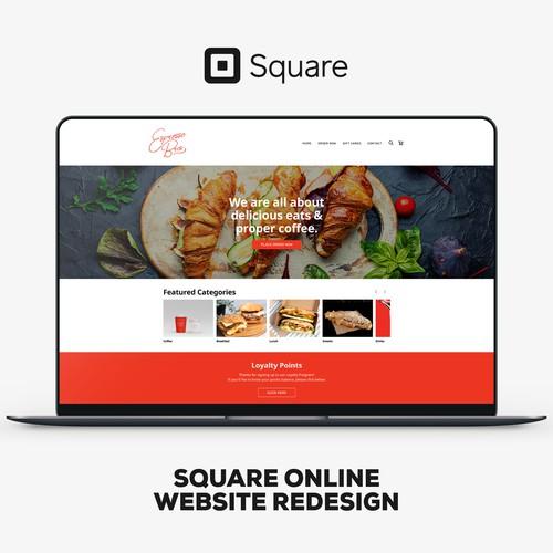 Square Online Website Redesign For Espresso Bros.