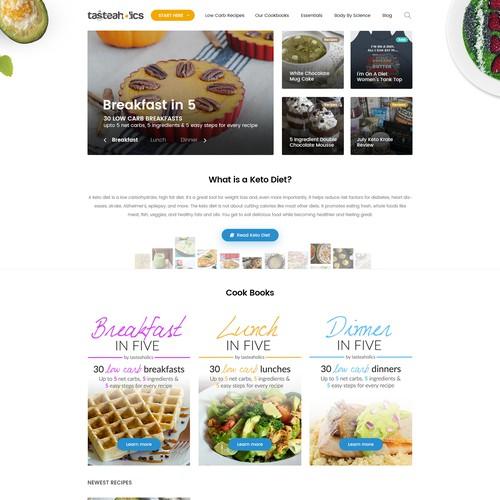 Diet Blog design