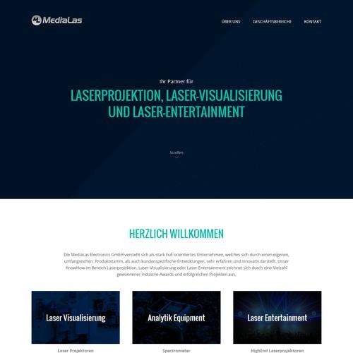 Homepage Design Electronics Company