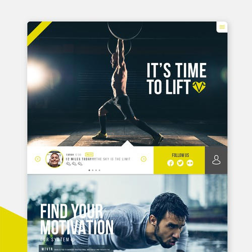 Create a Web Design for a new Fitness Start up ! :)