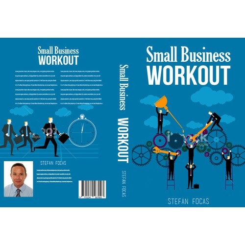 "Creating a book cover for the ""Small Business Workout"""