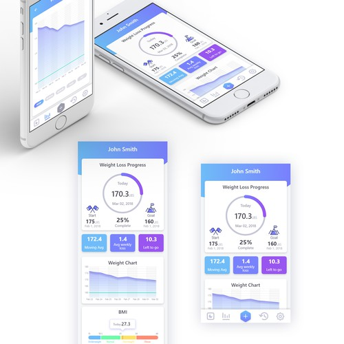Weight tracker app