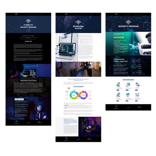 Cyberock web designs using wix