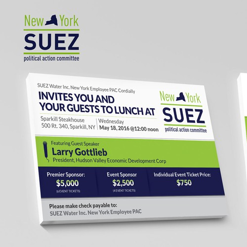 New York Suez Invitation Design