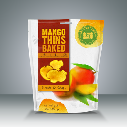 Help Farmer's Crate with a new product packaging for their fruit thins!!!