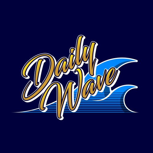 A strong brand logo for 'Daily Wave' fashion start up