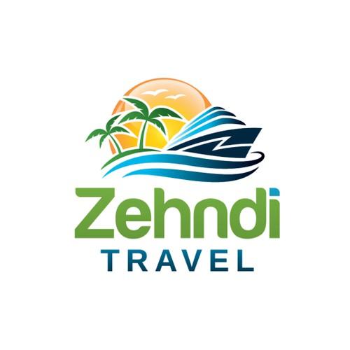 Logo für ein junges, mobiles Schweizer Reisebüro