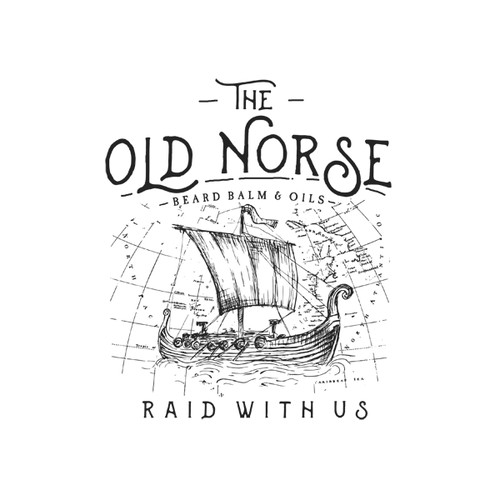 Nordic Flowing T-Shirt Design for Beard Balm and Oil Company