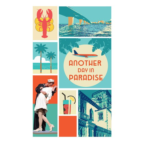 Hotel's promotional Tourist Poster for Sarasota, Florida