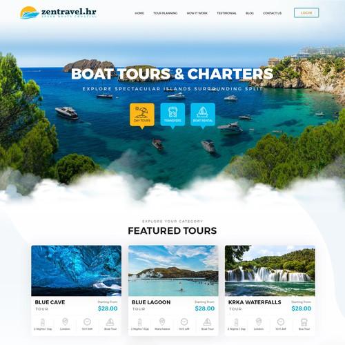 Travel agency needs a new website design