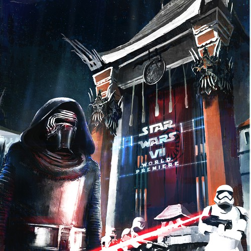 Illustration design for Star wars 7 entrance to the Grauman Chinese Theatre