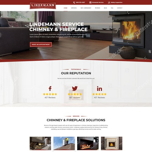 Chimney homepage design