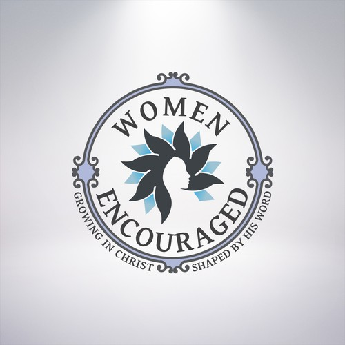 Feminine logo for a women organization