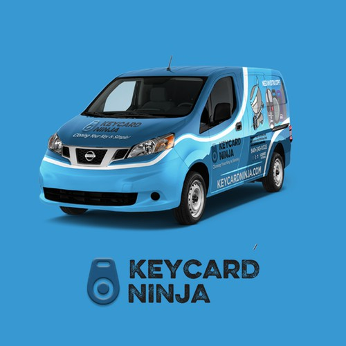 KeyCard Ninja car wrap