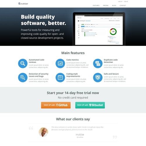 Create an informative and engaging landing page