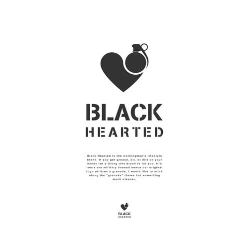 Black Hearted Logo