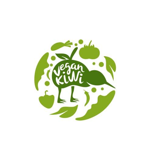 Organic Logo Concept for Vegan Kiwi