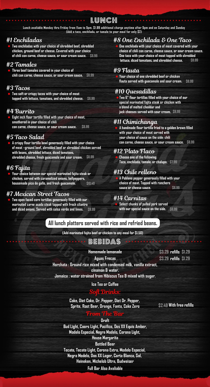Mama Rita's menu