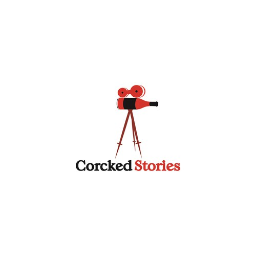 Logo concept for crocked stories