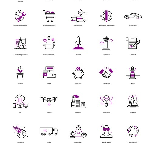 Icon Library for Logistic Company