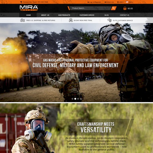 Gas mask website redesign