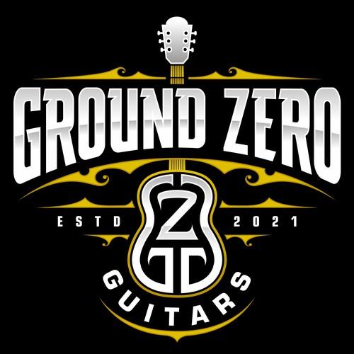 GROUND ZERO Badass Guitas Store Logo Designs