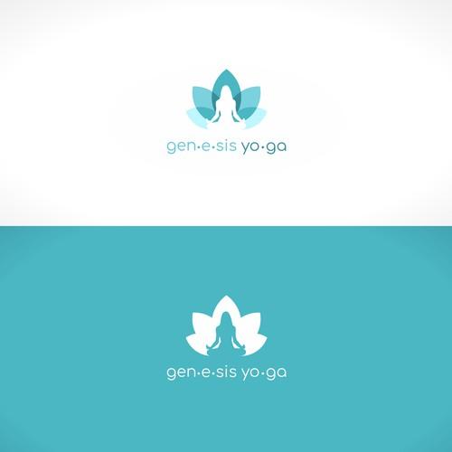 logo design for genesis yoga