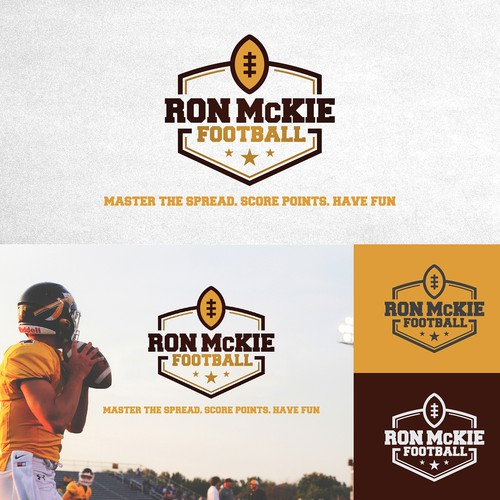 Bold and New logo for an American Football coach