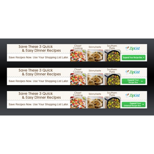 Update and revamp banner ads for with new recipes