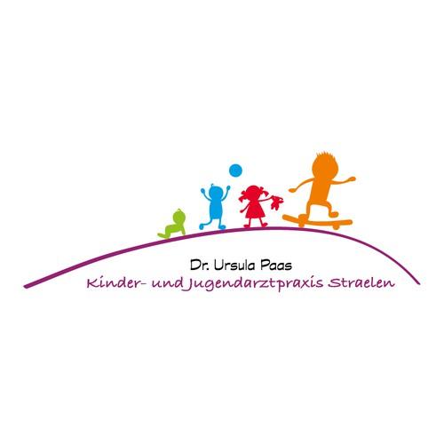 erstellt ein fesselndes Praxislogo für eine aufstrebende, engagierte  Kinderund Jugendärztin