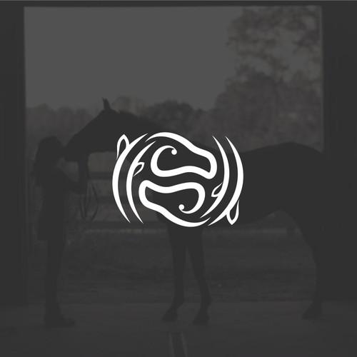 Horse logo with feminine style forming harmony (Yin-Yang)
