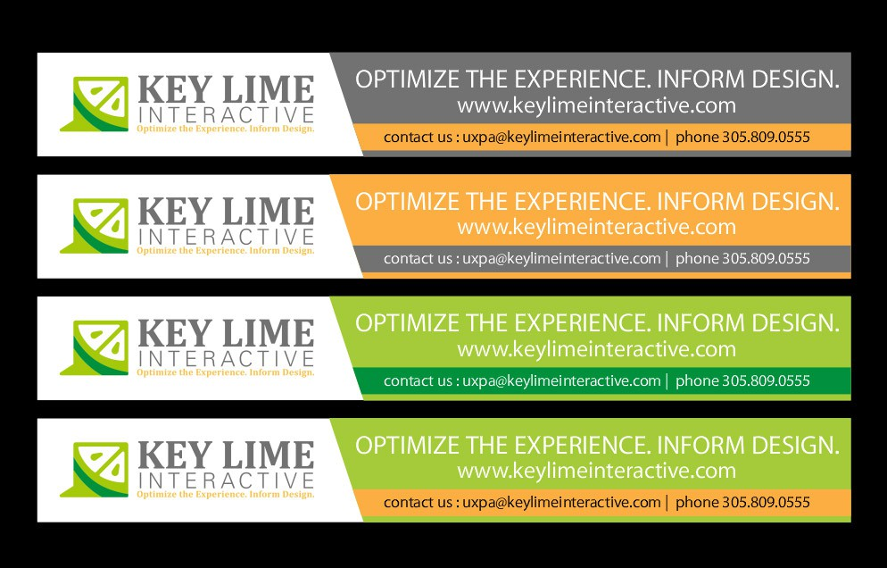 Create the next banner ad for Key Lime Interactive